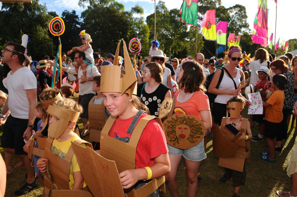 Kids at WOMAD by Steve Turtwin 2014